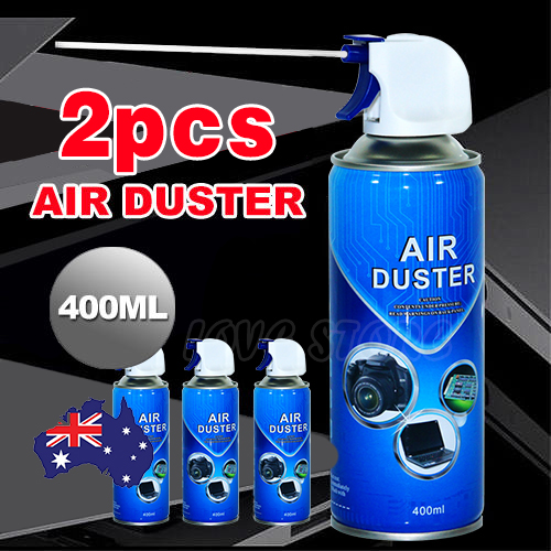 oz designed for pc 2x compressed air duster can cleaner 400ml ebay. Black Bedroom Furniture Sets. Home Design Ideas