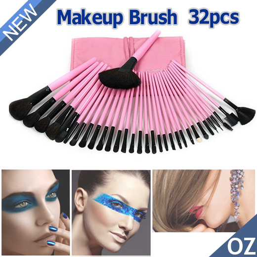 OZ-Cosmetic-Makeup-Make-Up-Brushes-Brush-Set-Kit-32-Pcs-Pink