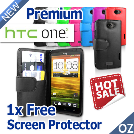 Brand-New-Plain-Leather-Case-for-HTC-One-X-XL