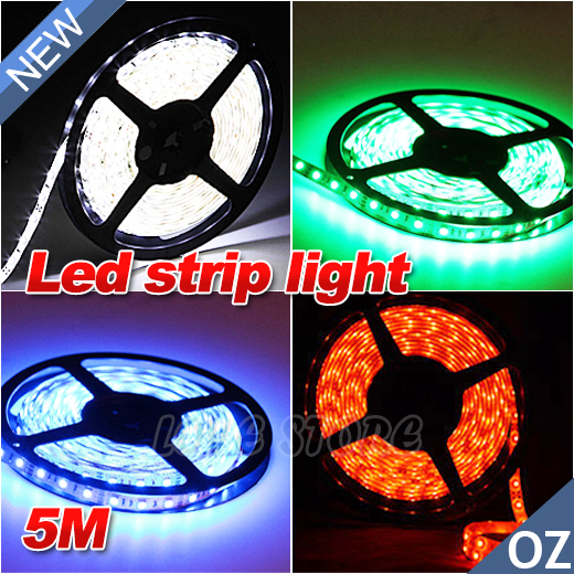 OZ-Bright-12V-5M-3528-SMD-300-Leds-LED-Strips-Strip-Light-Car