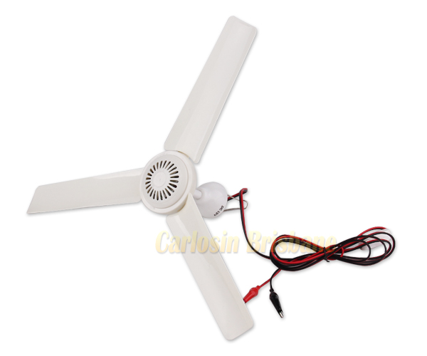 High Quality 3 Blade 12v Ceiling Fan 0 7amp Camping
