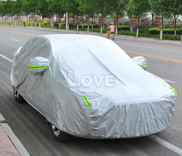 Aluminum Car Cover : Xxl large waterproof aluminum outdoor car cover double