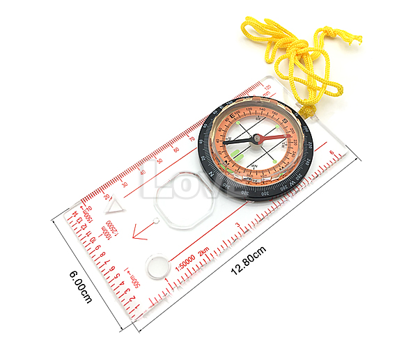Orienteering Baseplate Compass Hiking Camping Maps